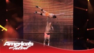 KriStef Brothers - Circus Act Performs Extreme Hand Balancing Act - America's Got Talent 2013