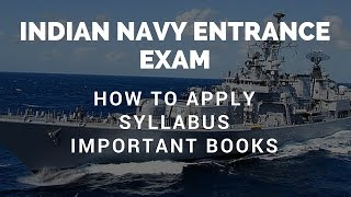 How to apply for Indian Navy, Indian Navy Syllabus & Important Books for preperation