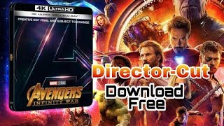 How to download free Avengers Infinity War In Blu-ray Director-cut with hindi audio