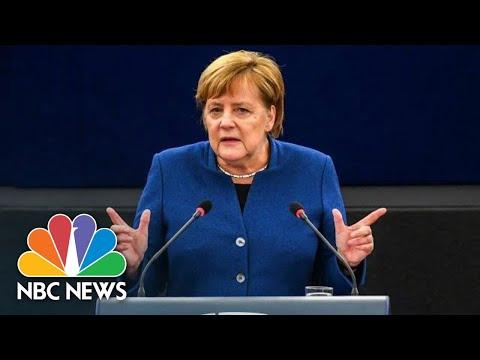 Xxx Mp4 Angela Merkel Calls For Creation Of A 'True European Army' NBC News 3gp Sex