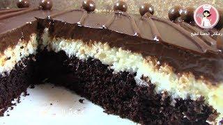 كيكة الباونتي الباردة اللذيذة كيك بجوز الهند الباردة حلويات سهلة وبسيطة مع رباح محمد ( الحلقة 298 )