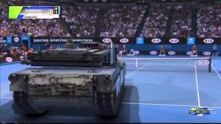 دجوكوفيتش يتغلب على دبابة في بطولة أستراليا للتنس!