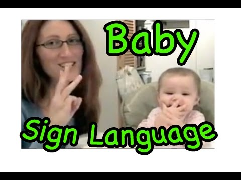 cute signing baby!...baby sign language