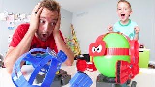 Father & Son PLAY BALLOON BOT BATTLE!