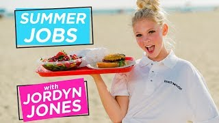 JORDYN JONES BEACH BURGER CHALLENGE   Summer Jobs w/ Jordyn Jones