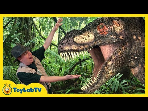 GIANT DINOSAUR THEME PARK & RAPTOR CHASE! Discover Dinosaurs Family Fun Kids Jurassic Adventure Toys