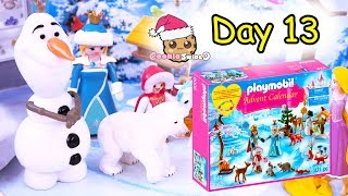 Playmobil Holiday Christmas Advent Calendar Day 13 Cookie Swirl C Toy Surprise Video