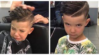 Enfant très agité chez le coiffeur by @oska39