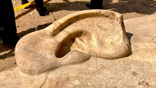 Pharaoh Ramses II Body statue unearthed in Cairo Egypt 2