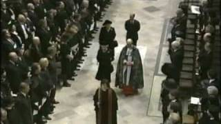 The Queen's Arrival at the Funeral of Diana Princess of Wales