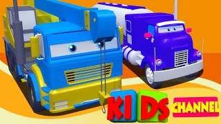 Airplane tank   lifting truck   3d video for kids
