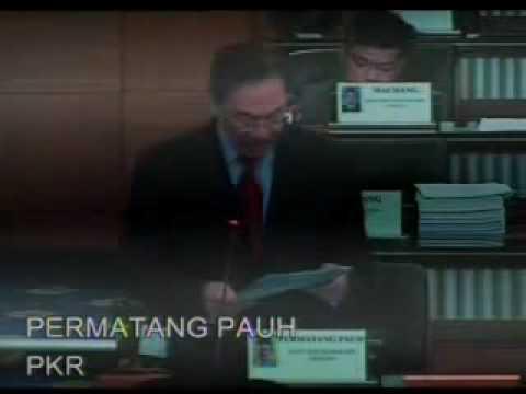 Ketua Pembangkang Anwar Ibrahim Bahas Bajet 2010 SIRI 3