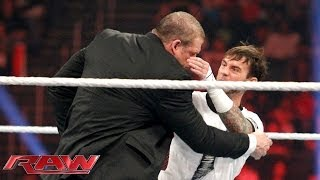CM Punk attacks WWE Director of Operations, Kane: Raw, Jan. 20, 2014
