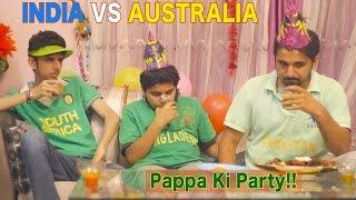 INDIA VS AUSTRALIA - Mauka Mauka Funny Ad - ICC Cricket World Cup 2015 - PAPPA KI PARTY !!