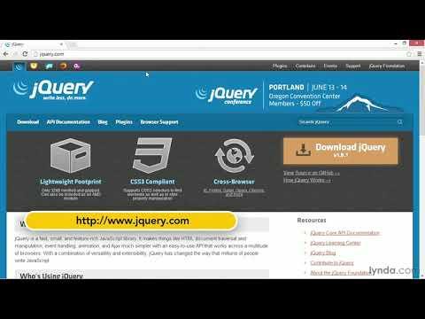 jQuery tutorial: Downloading and installing jQuery | lynda.com