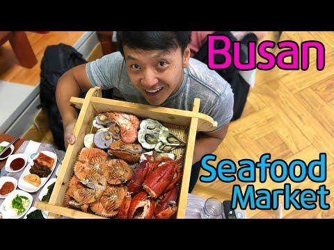 LARGEST SEAFOOD MARKET in Korea Jagalchi Market in Busan