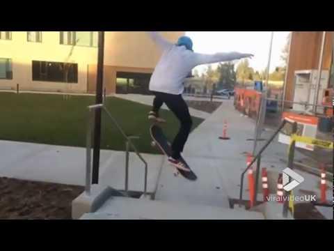 Xxx Mp4 Skate Rail Goes Wrong Viral Video UK 3gp Sex