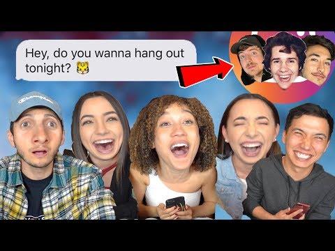 DM ing Youtubers & Celebrities on Instagram ft. Nezza Merrell Twins Aaron Burriss