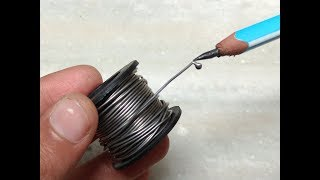 How to make a soldering iron using pencil