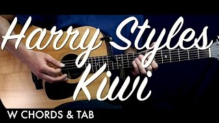 Harry Styles - Kiwi Guitar Tutorial Lesson w Chords & TAB / Guitar Cover How To Play Easy Videos
