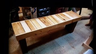 How To build Nice Bench OUT OF 2 PALLETS-inspired by DIY CREATORS .