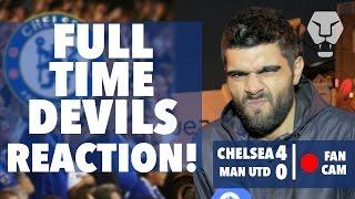 FULL TIME DEVILS REACTION! | Chelsea 4 - 0 Man United | Fan Cam
