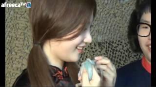 다이아 정채연-산낙지 냠냠(먹방)