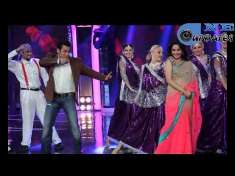 Madhuri Dixit and Salman Khan on Bigg Boss 7 8th December 2013
