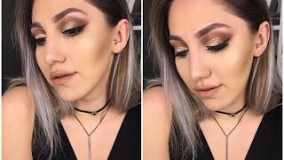 Bence Yaptığım En İyi Makyaj | Glitter Eyeliner ve Cut Crease | Instagram Makyajı!