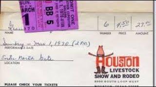ELVIS PRESLEY March 1, 1970, Astrodome, Houston, Texas