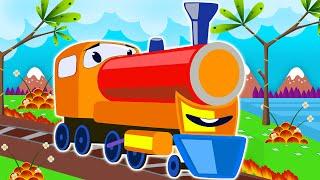 New train videos for Children - Trains for children - choo train cartoon