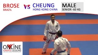 BROSE (BRA) vs CHEUNG (HKG) - Karate1 Premier League Dutch Open 2016