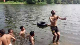 Amazing dive from blender kuzhur, Kerala people are awesome
