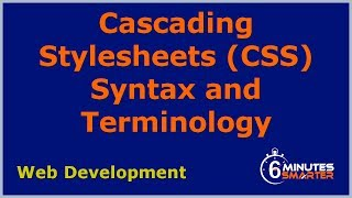 CSS Syntax and Terminology