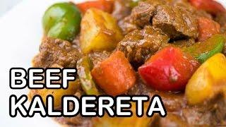 How to Cook Beef Kaldereta | Calderetang Baka Recipe | Panlasang Pinoy