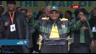 Pres. Zuma concludes ANC conference opening speech in song