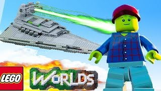 LEGO WORLDS The Biggest Spaceship & Space Base! (Lego Worlds)