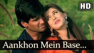 Aankhon Mein Base (Male) - Sunil Shetty - Sonali Bendre - Takkar - Bollywood Songs - Alka Yagnik