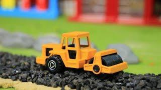 ทำถนนลาดยาง รถบดถนน รถแม็คโคร รถดั้ม รถแทรกเตอร์ mini construction vehicles toys