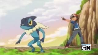 Froakie + Frogadier + Greninja Fight