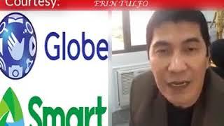 Idol Erwin Tulfo galit sa PLDT/GLOBE TELECOM