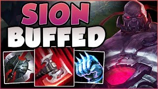 UMM RIOT?? ONE BUFFED SION Q DID HOW MUCH DMG?? NEW SION SEASON 8 TOP GAMEPLAY! - League of Legends