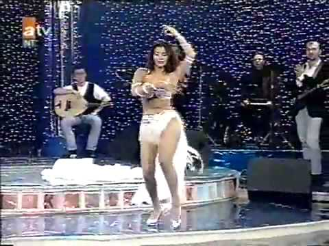 Turkish Belly Dance Tanyeli in white 1993