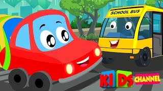 Little Red Car | Colors Cars Song | Nursery Rhymes Songs For Kids | car cartoons