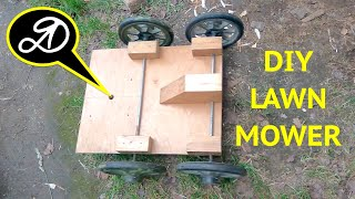 How to make a grass cutter machine DIY. Electric Lawn Mower (Trimmer)