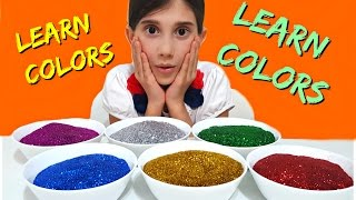 Baby Finger Family Song for LEARNING COLORS with Glitter and Nursery Songs For Children