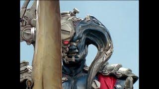 Power Rangers Mystic Force - The Gatekeeper - Titan Megazord vs Morticon Round 1 (Episode 12)