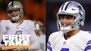 Will Dak Prescott Or Derek Carr Win A Super Bowl First?   First Take   June 20, 2017