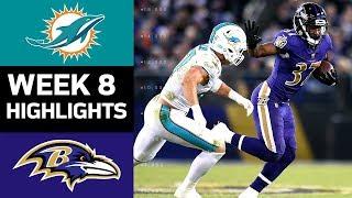 Dolphins vs. Ravens   NFL Week 8 Game Highlights