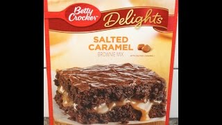 Betty Crocker Delights: Salted Caramel Brownie Mix Preparation & Review